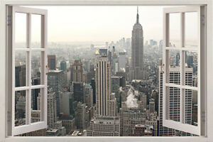 Image Is Loading New York City Skyline Huge 3D Window View  Part 37