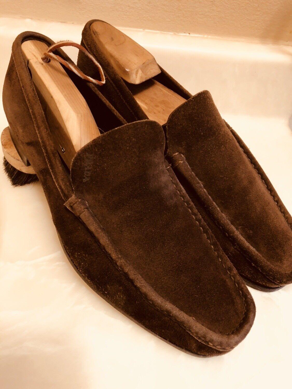 Prada Brown Suede Pelle Loafer Style 2D2238 (U.S. Size Prada 7  (U.S. 2D2238 size 8)  EUC
