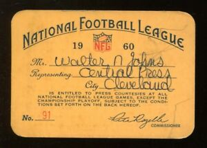 1960-NFL-Season-Media-Press-Pass-Ticket-Extremely-Rare-Eagles-Champs-43186