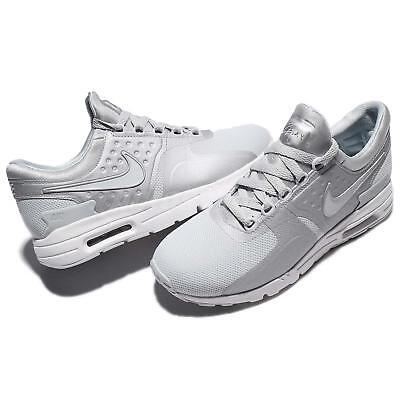 Nike Women's Air Max Zero Shoes White Grey 857661-013