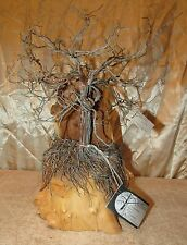 Enchanted Forest Wire Creations Wood Fairy Tree Magical Birds Nest Art Statue