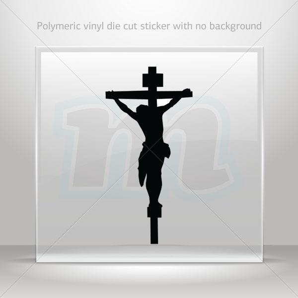 Decals Stickers Jesus Christ Cross Symbol Car Atv Bike Garage 0502