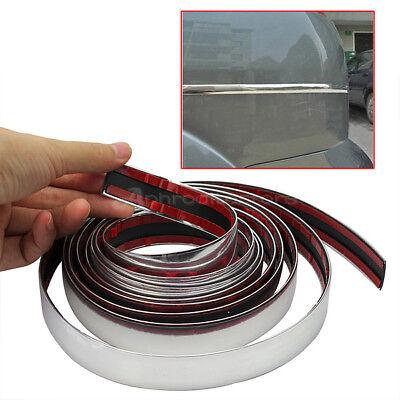 1m DIY Chrome Car Door Edge Strip Guard Protector Moulding Trim 22mm