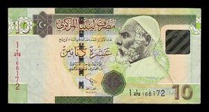 B-D-M-Libia-Libya-10-Dinars-2011-Pick-78Ab-BC-MBC-F-VF