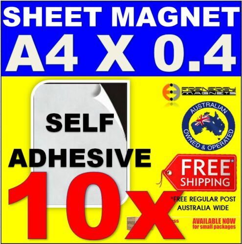 10x Magnetic Sheets A4 x 0.4mmSelf AdhesiveDIY Wedding Card Sticky Labels