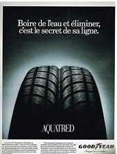 Publicité Advertising 1994 Pneus Aquatred par Goodyear