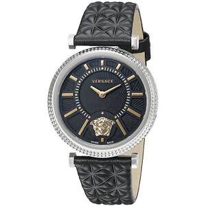 cc3d9959c4f Image is loading Versace-VQG020015-Women-039-s-V-HELIX-Silver-Tone-