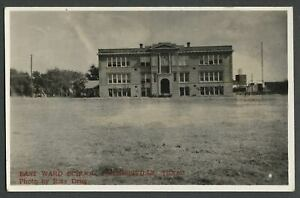 Farmersville-TX-c-1940s-RPPC-Real-Photo-Postcard-EAST-WARD-GRADE-SCHOOL
