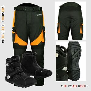 Motorbike-Motorcycle-Armoured-Pant-Trouser-Waterproof-Leather-Shoes-Racing-Boots