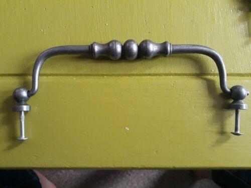 Drop Handle cabinet draw pull Door Metal silver Pewter effect 180mm