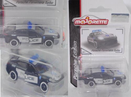 Majorette 212053057 Porsche Panamera Turbo POLICE Porsche Edition schwarz