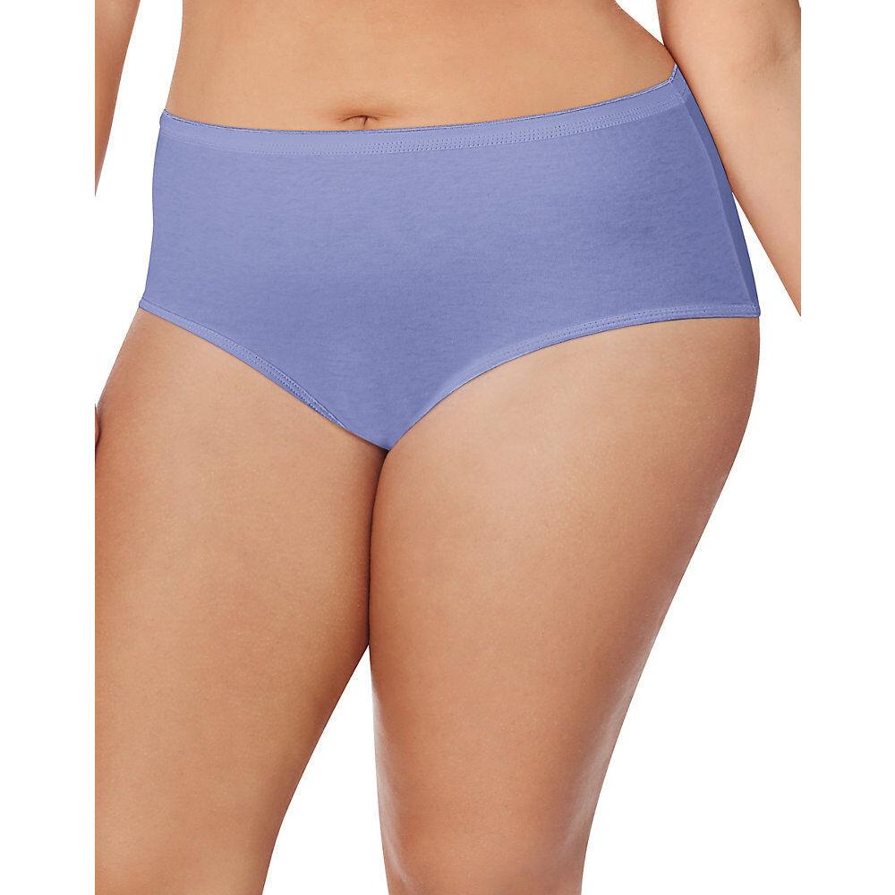 16 Just My Size Cotton TAGLESS® Brief Panties 1610P8