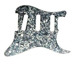 Strat-ST-pickguard-Black-Pearloid-SSS-11-holes-replacement-3-ply