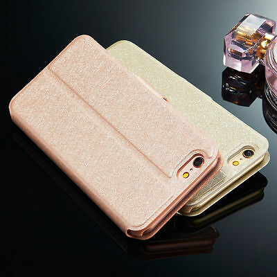 Rose Gold New Flip Wallet Leather Case Cover Stand For iPhone/Samsung/Huawei/LG