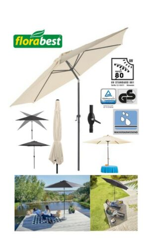 Dimensions:approx.H 2.49 x Ø 2.94 m German Made Florabest Parasol