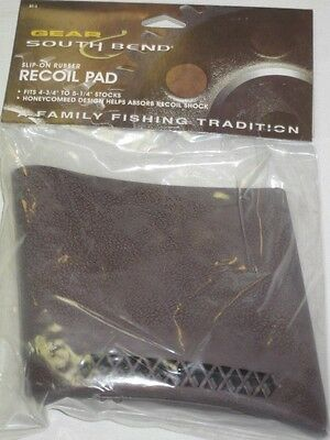 """NEW-Slip On Rubber Recoil Pad By South Bend Products-Fits 4 3/4"""" - 5 1/4"""" Stocks"""
