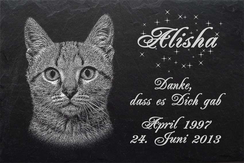 TIERGRABSTEIN Grabstein Grabplatte Katzen Katze-007 ►LASER-Textgravur◄ ►LASER-Textgravur◄ ►LASER-Textgravur◄ 40 x 25cm 5e28f1
