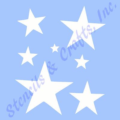 "2/"" STAR STENCIL STARS CELESTIAL CRAFT STENCILS TEMPLATE TEMPLATES PAINT NEW"