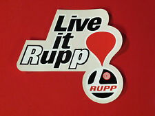 Live It Rupp Sticker decal mini bike snowmobile kart roadster blackwidow nitro