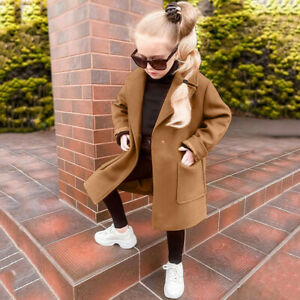 Toddler Baby Girls Long Sleeve Winter Warm Solid Windproof Coat Outwear Jacket
