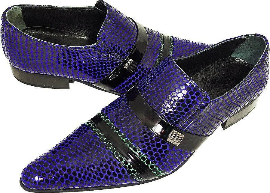 100% 100% 100% Chelsy - Italienischer Designer Slipper Netzmuster schwarz blau grün 42 282376