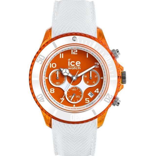 Herrenuhr ICE WATCH DUNE IC.014221 Chrono Silikon Weisse Orange Sub 100mt