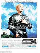 PUBLICITE ADVERTISING 066  1996  Pionneer   double lecteur laser disc  CLD 310