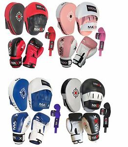 Open-Minded Pro Box Leather Focus Punch Paddles Boxing Pad Mma Strike Mitt Coaching Training Sporting Goods