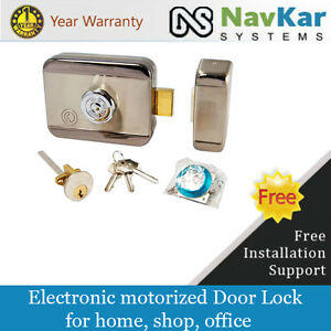 Image is loading Stainless-Steel-Electronic-Door-Lock-for-Wooden-&-  sc 1 st  eBay & Stainless Steel Electronic Door Lock for Wooden \u0026 Metal Doors wid ...
