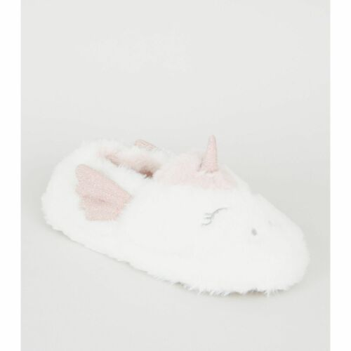 New Look Girls  Faux Fur Unicorn Slippers