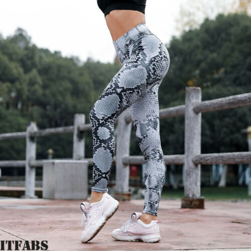 NEW!Women Push Up Yoga Leggings Leopard Run High-Waist Gym Sports Pants Trousers