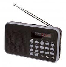 RADIO FM/MP3 PORTABLE AVEC PORT USB ET SLOT CARTE SD RECHARGEABLE VIA USB