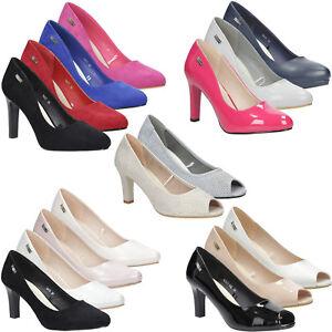 new style f2fa0 206c2 Details zu Damen Pumps Sergio Leone Schuhe High Heels Party Hochzeit  Elegant Gr. 36-41 NEU