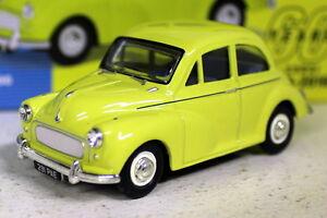 Vanguards-1-43-Scale-VA05808-Morris-Minor-1000-Highway-Yellow-Diecast-model-car