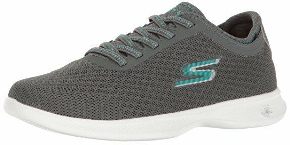 SKECHERS GO STEP-LITE DASHING 14500 CHARCOAL TEAL ATHLETIC RUNNING SHOES