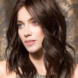 Beautiful-Girl-Real-Hair-Women-Medium-Dark-Brown-Wavy-Wig-17-7-inches-2018