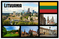 LITHUANIA - SOUVENIR NOVELTY SIGHTS FRIDGE MAGNET - BRAND NEW - LITTLE GIFTS