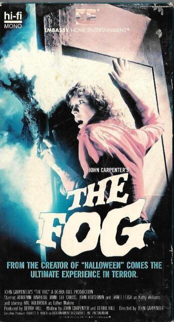 The Fog VHS John Carpenter Jamie Lee Curtis 1979 Horror Suspense Classic