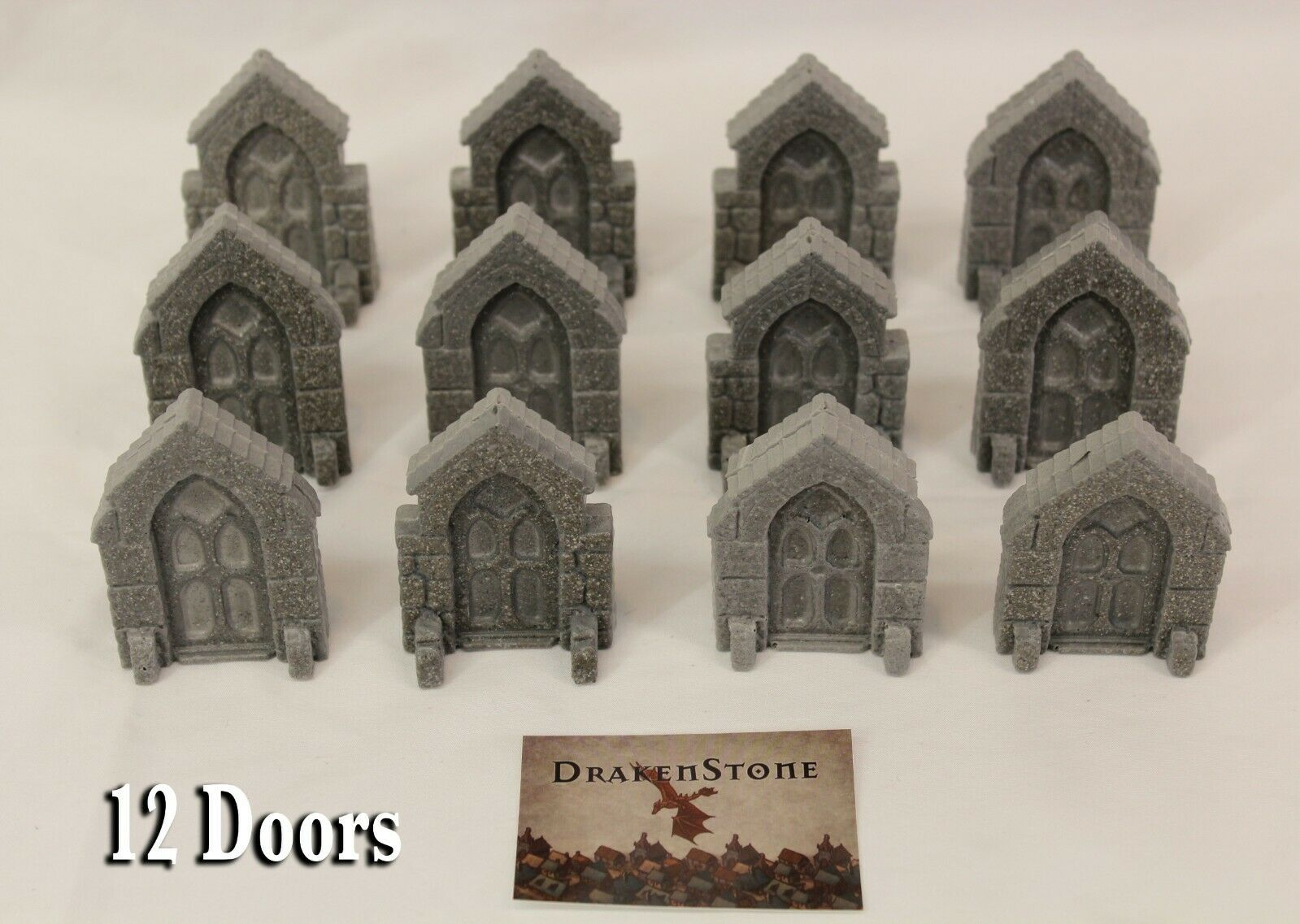 DrakenStone Dungeon Doors resin D&D pathfinder rpg terrain dwarven forge mini
