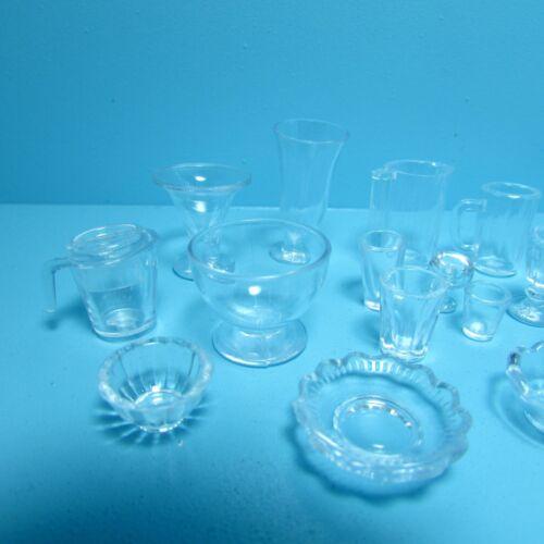 Glasses /& More G7344 Dollhouse Miniature 21 Piece Clear Kitchen Set Pitchers