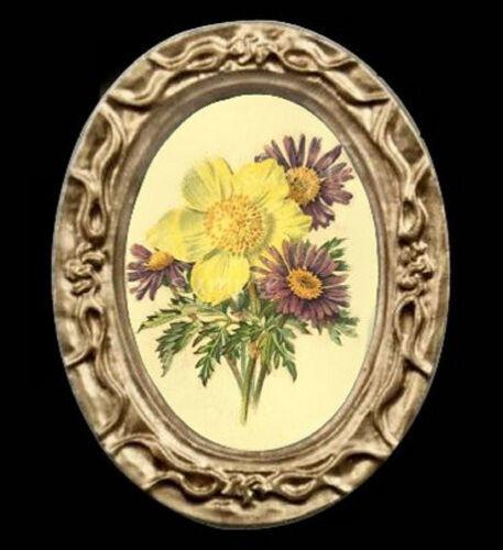 Vintage Flowers Miniature Dollhouse Picture