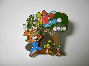 Disney-Goofy-Chip-amp-Dale-Mainstreet-Disneyland-Mickey-Balloons-Chip-and-Dale-Pin