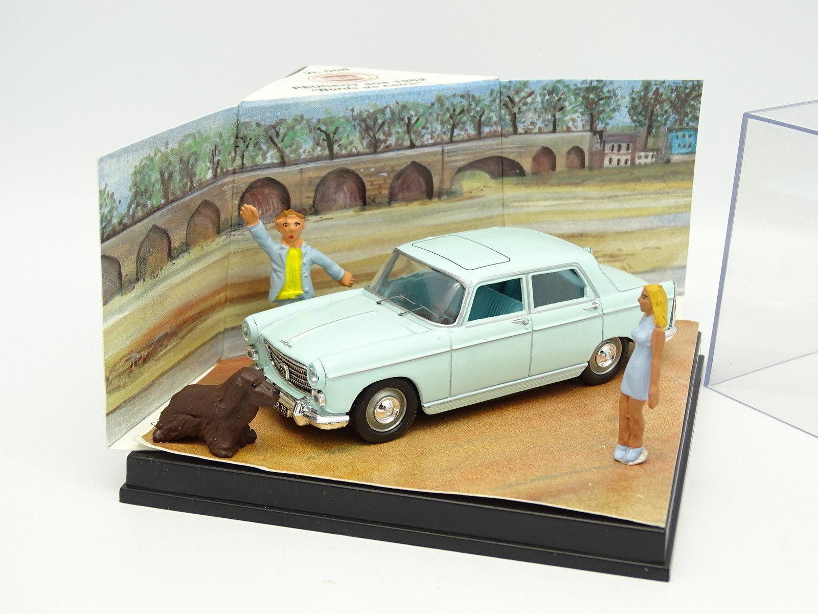 Nostalgie CEC Diorama 1 43 - Peugeot 404  Bords de Loire