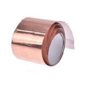 5cm*1m copper foil shielding tape 1-side conductive adhesive guitar accessory .. 651743035141