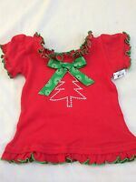 Girls 6-12 Months Boutique Ganz Christmas Tree Ruffle Shirt