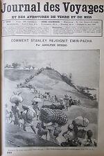 JOURNAL DES VOYAGES N° 663 de 1890 EXPEDITION AFRIQUE STANLEY SOLDATS SOUDAN