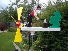 Wood Chopping Whirligig, Windmill, Whirlygig,  Garden Windmill, Wind Spinner