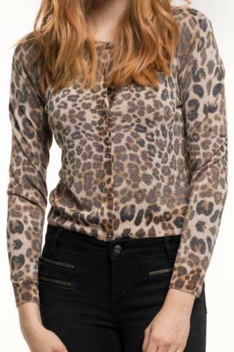 115 € GAUDI Strickjacke Damen mehrfarbig Leopardenlook  Neu