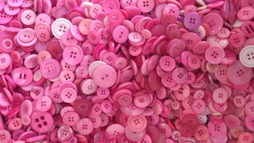 Various Buttons Mixes Bags Assorted Colours /& Various Mixed Sizes 11mm to 25mm