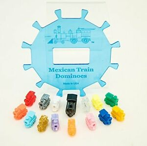 Mexican-Train-Dominoes-Center-Piece-Hub-amp-Accessories-12-Players-Free-Shipping
